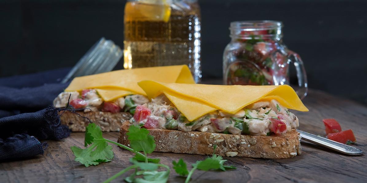 Light & Sassy Salsa Tuna Sandwich