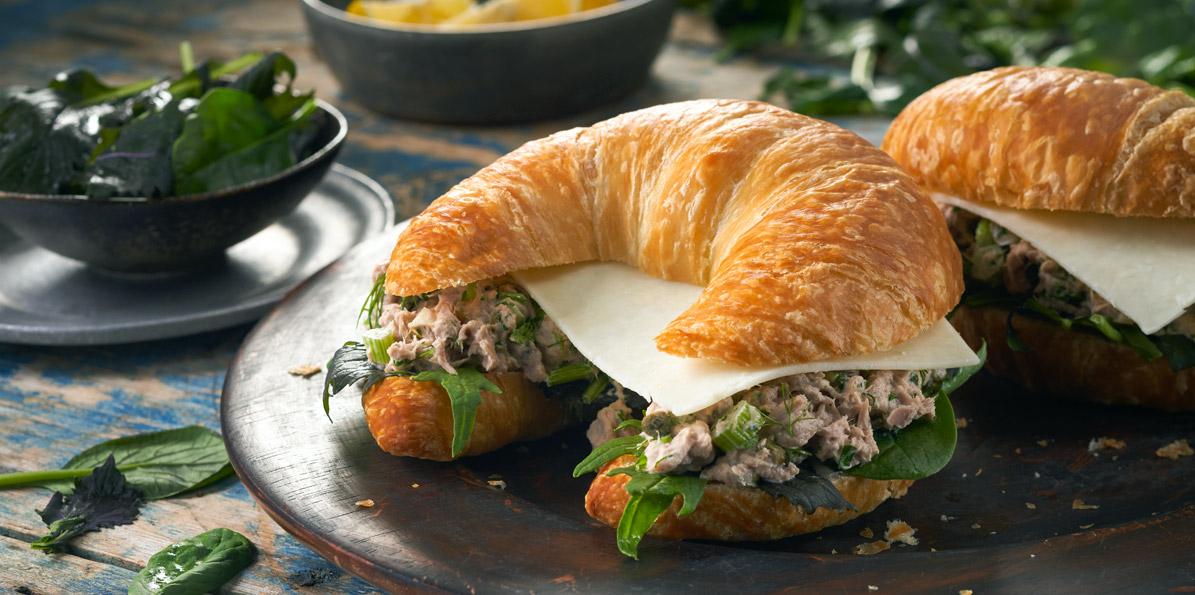 5 Cheese Italian Tuna Salad Sandwiches