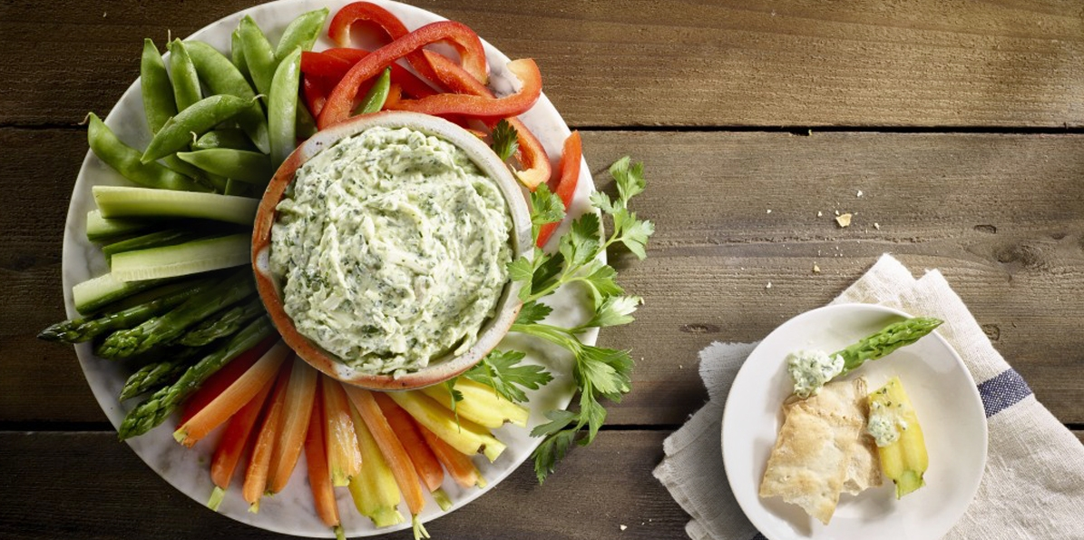 Two Cheese Pesto Dip
