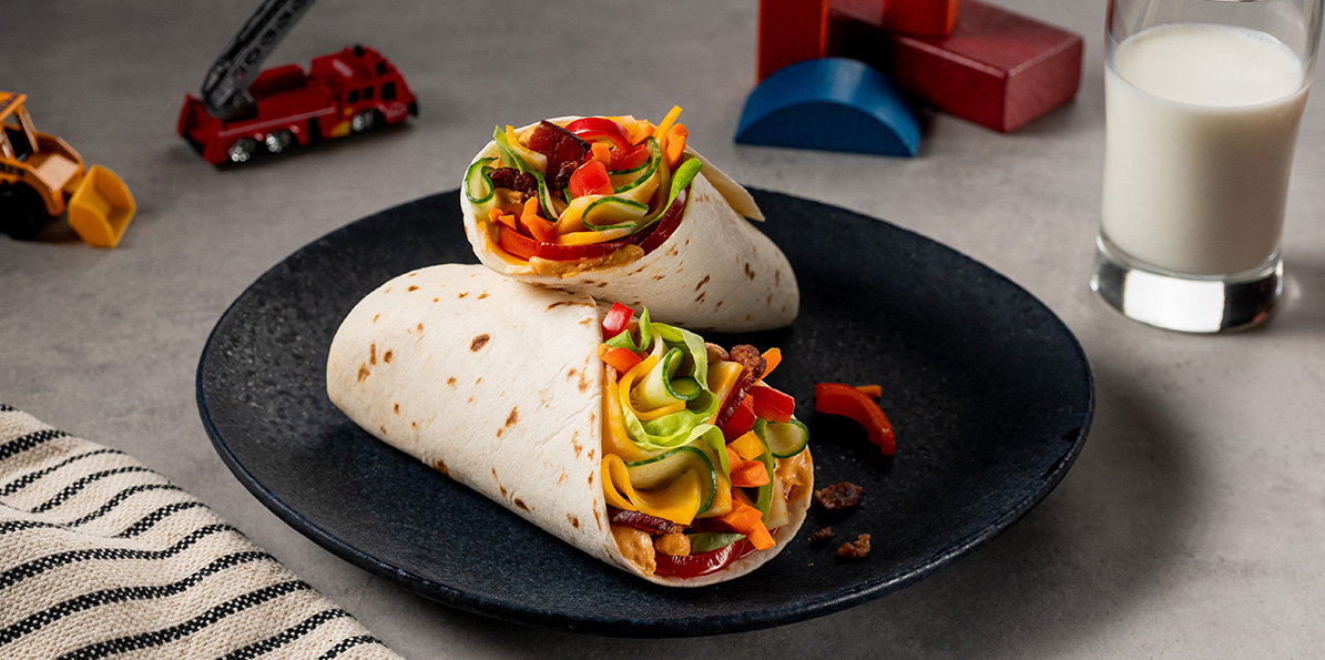 Bacon and Veggie Wrap