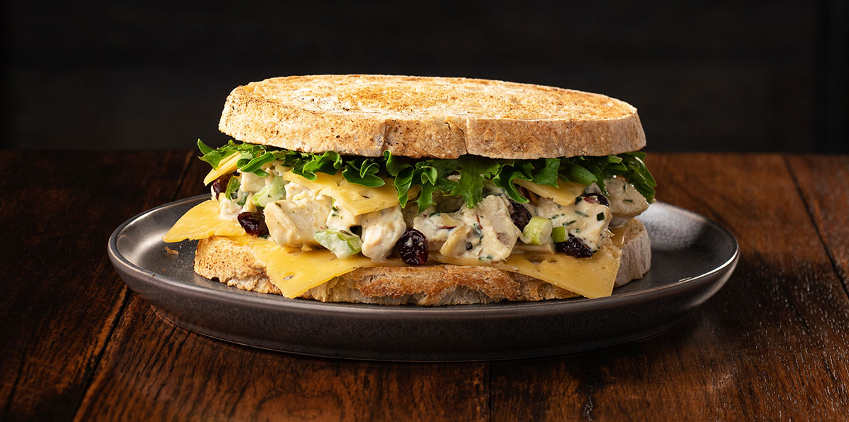 Chicken Salad & Gouda Sandwich