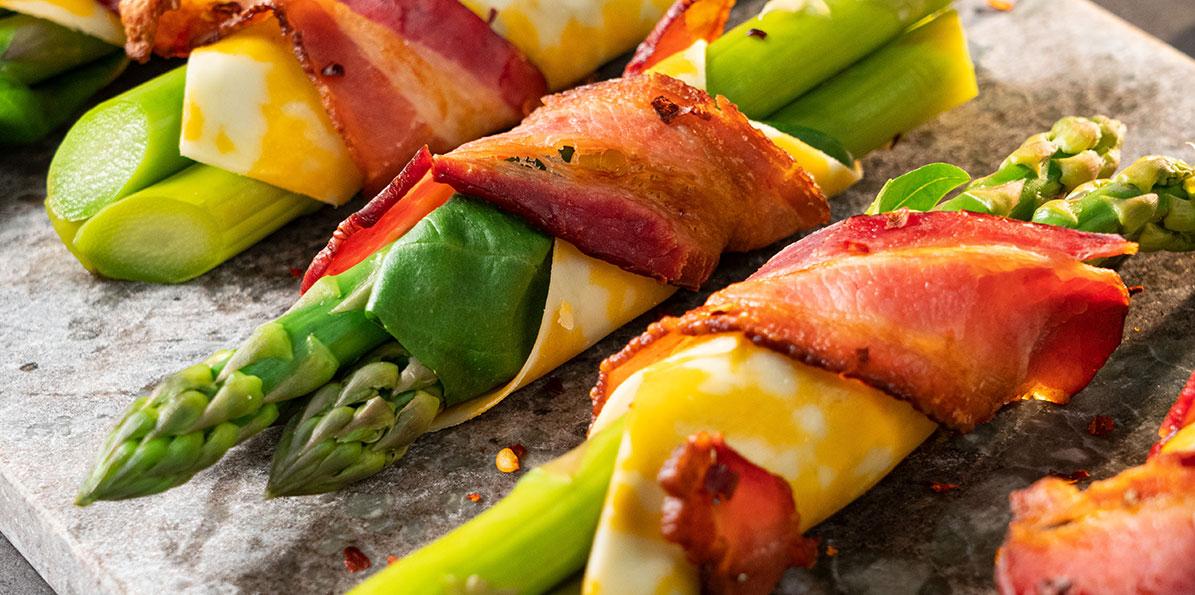 Cheese & Asparagus Wraps