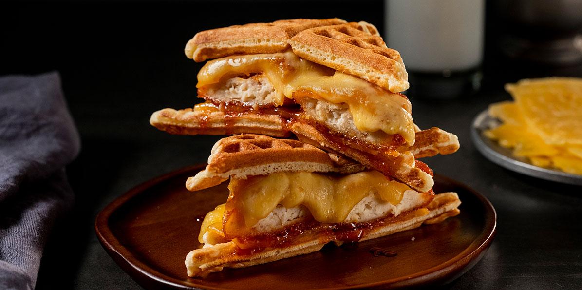Chicken and Waffle Breakfast Sandwich