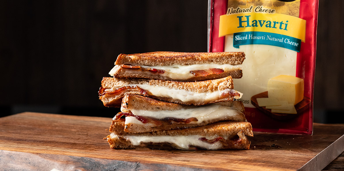 Spiced Bacon & Havarti Grilled Cheese