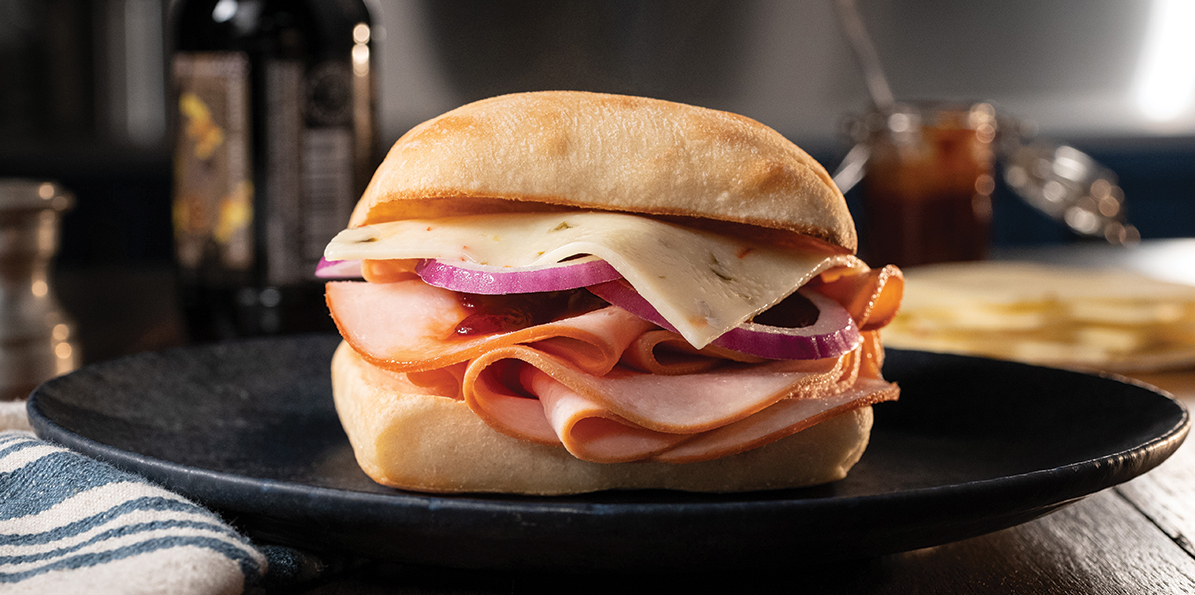 Barbecued Turkey Sandwich
