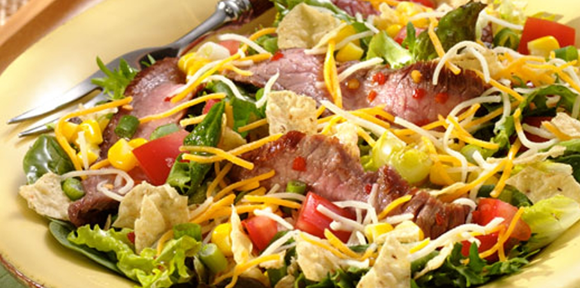 Beef 'n' Cheese Fiesta Salad