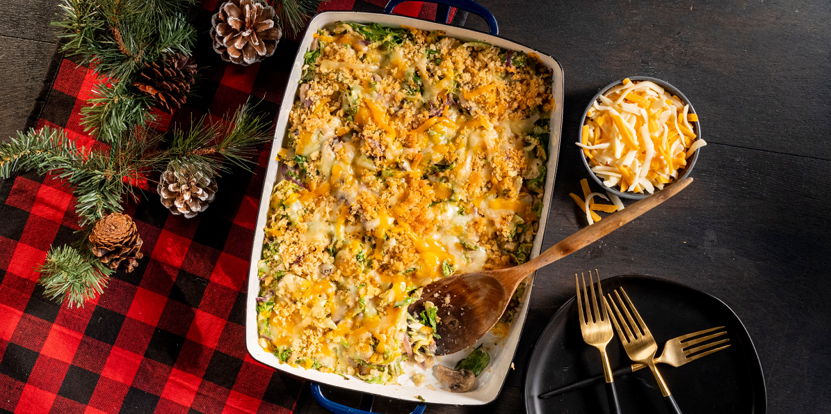 Shredded Brussels Sprout Casserole