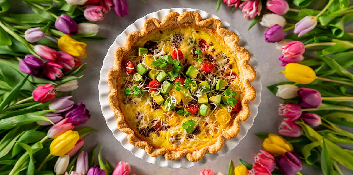 Chorizo & Green Chili Quiche