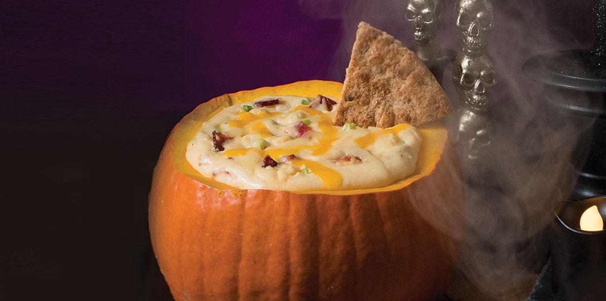 Jack O' Lantern Cheese Dip