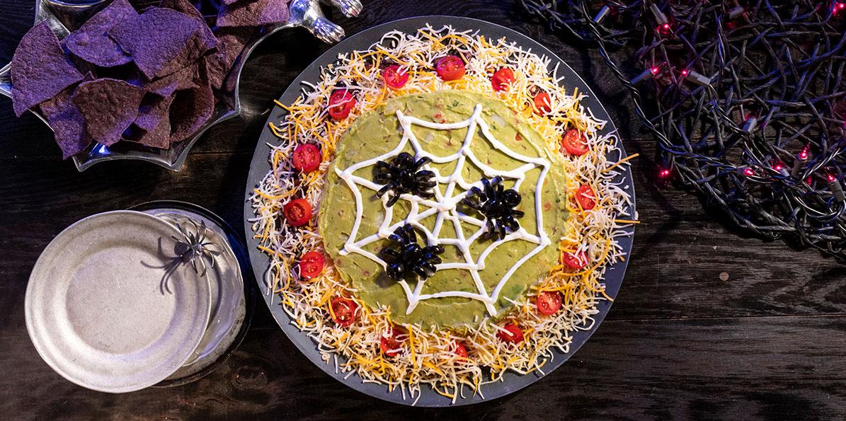 Spooky Spider Web Dip