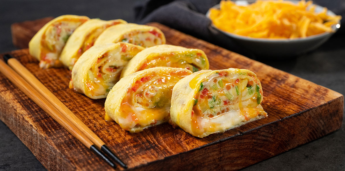 Rainbow Korean Egg Rolls