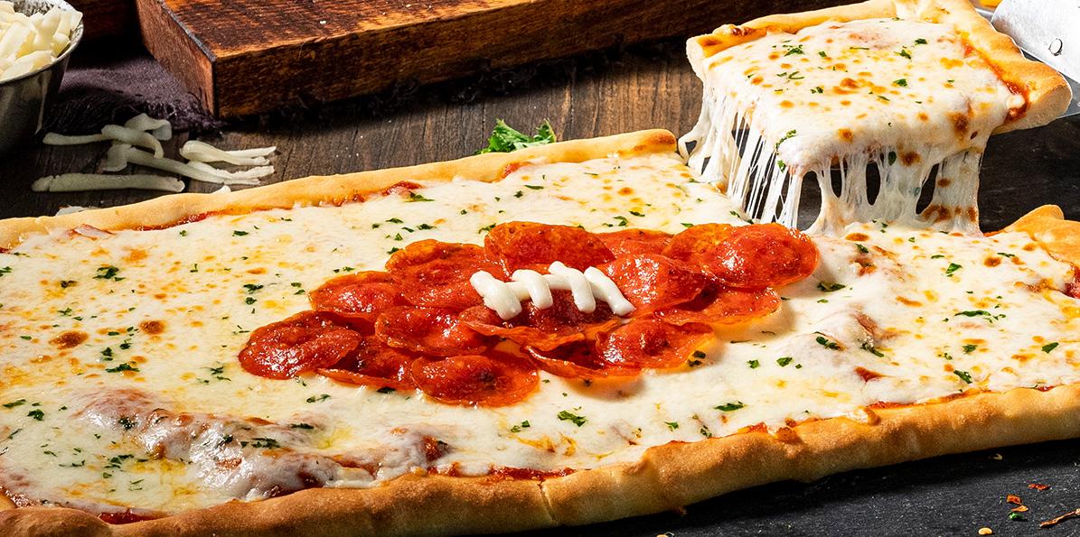 Pepperoni Football Pizza