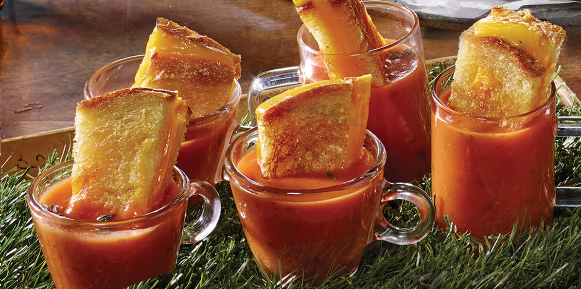 Grilled Cheese & Tomato Soup Shooters
