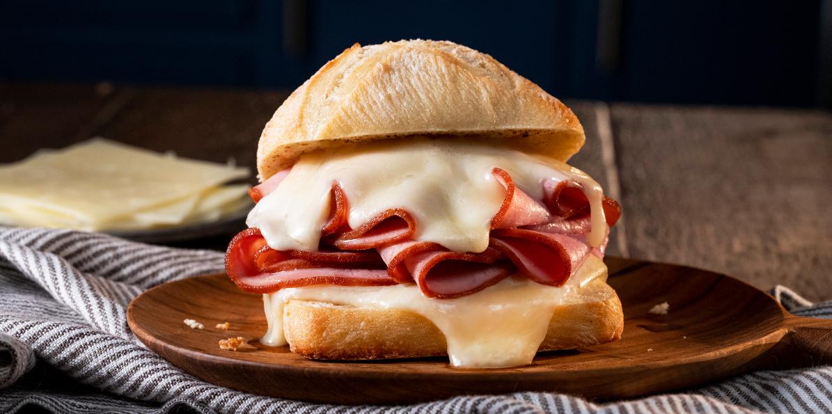 Hot Ham & Swiss Sandwich