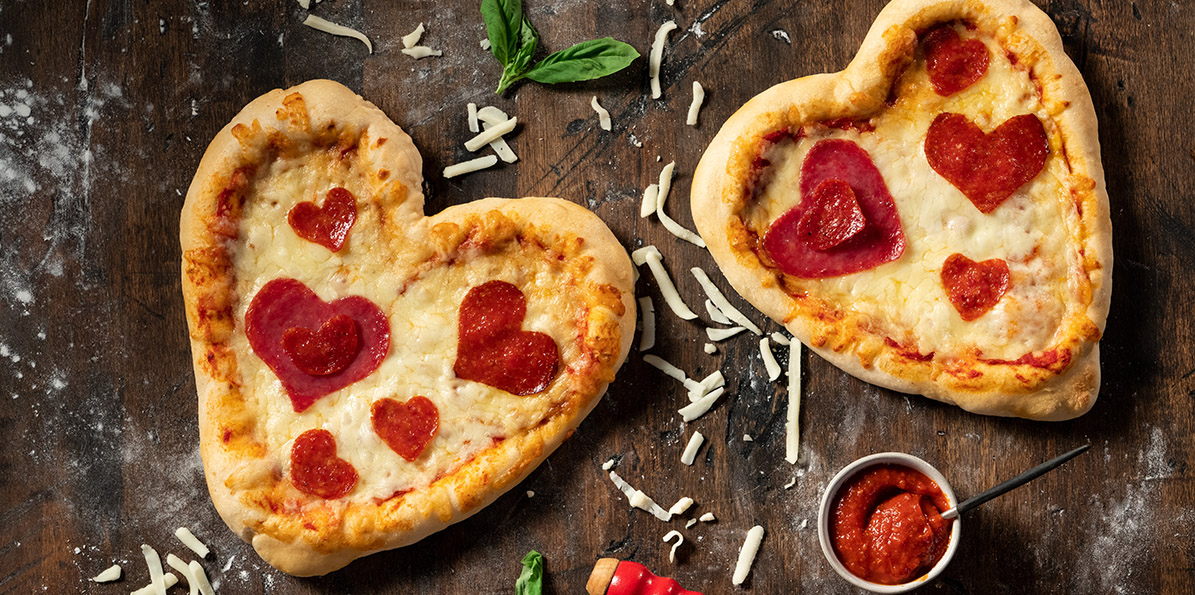 Cheesy Valentine's Personal Pizza