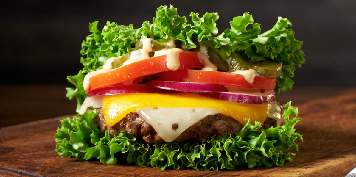 Lettuce Wrapped Cheeseburger