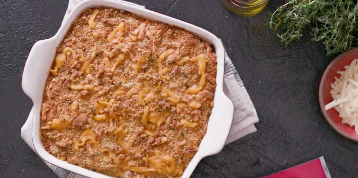 Aged Italian Baked Mac and Cheese