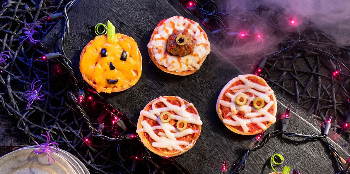 Halloween Mini Pizzas