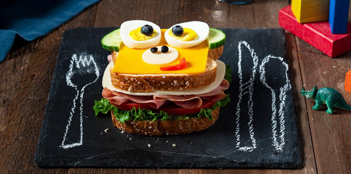 2 Cheese Honey Ham Monkey Sandwich