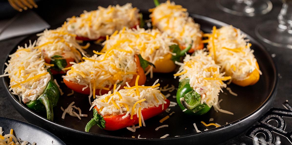 Mini Cheese Stuffed Peppers