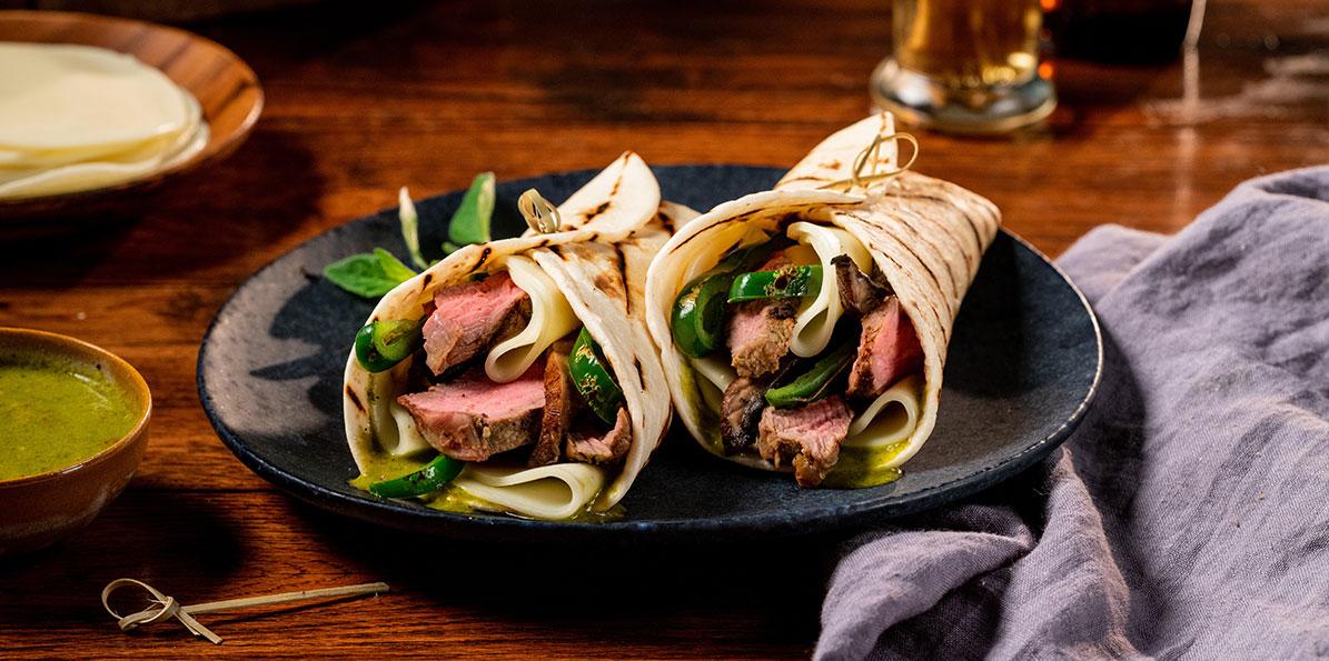 Chimichurri Steak & Cheese Wrap