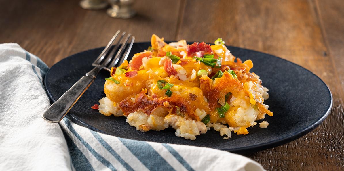 Cheesy Chicken Bacon & Potato Casserole