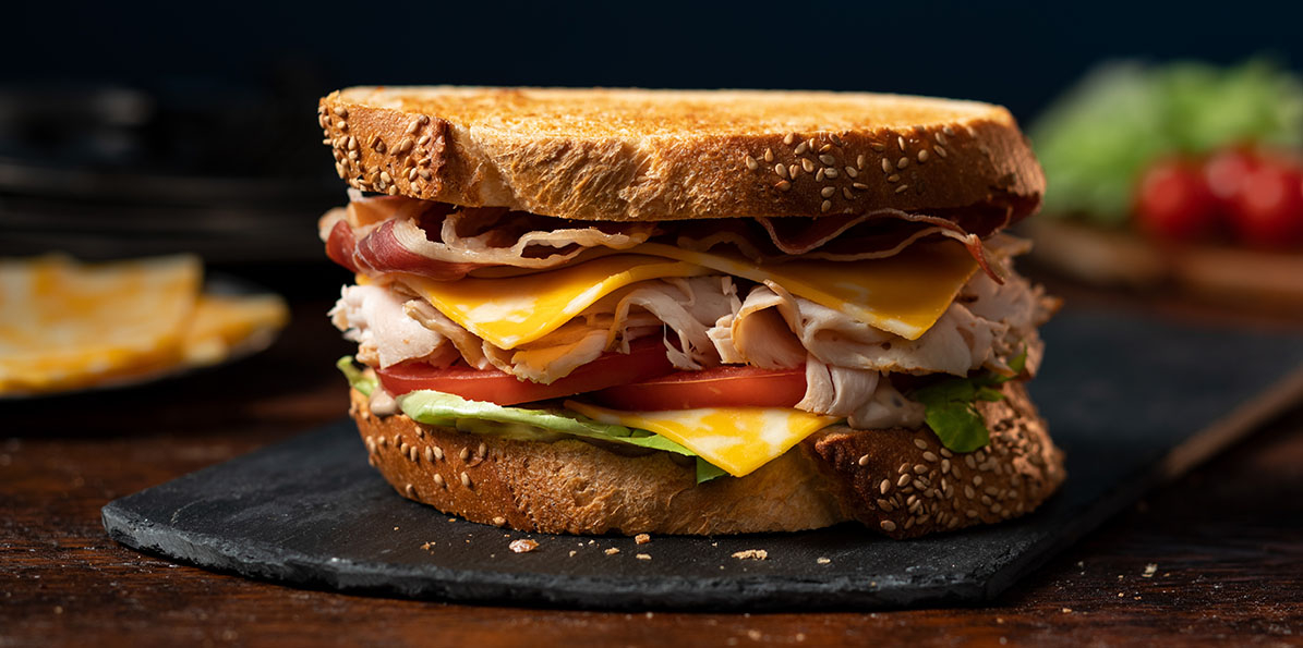 Prosciutto & Turkey Club Sandwich