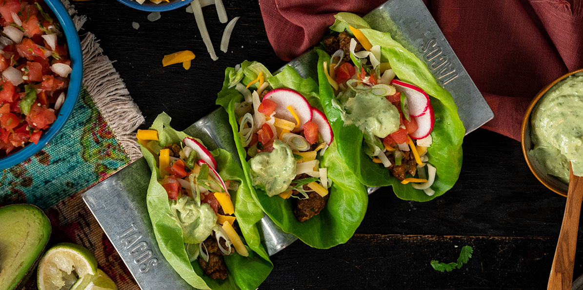 Cheesy Taco Lettuce Wrap
