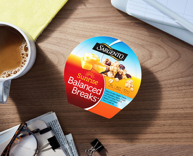 For all you start the day off right snackers, there's Sunrise Balanced Breaks®
